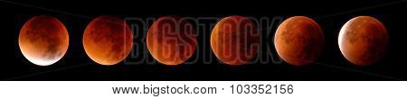 Total Lunar Eclipse In 6 Stages