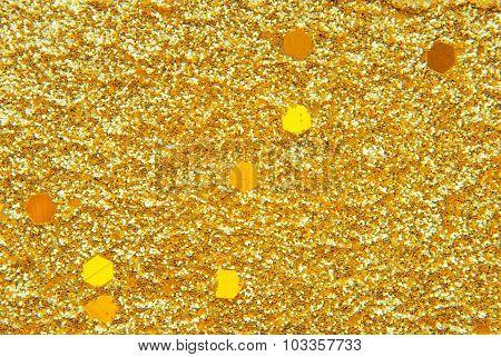 goden glitter background
