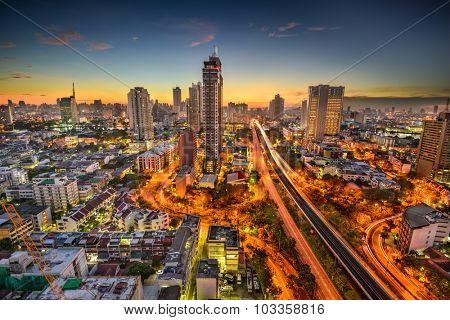 Bangkok, Thailand skyline at dawn.