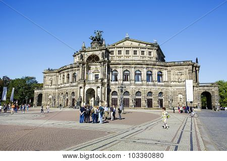 Semperoper, The Opera House In Dresden