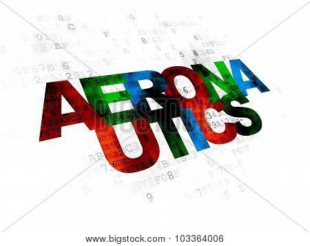 Science concept: Aeronautics on Digital background
