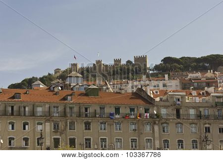 Lisbon Building In Baixa Quartier