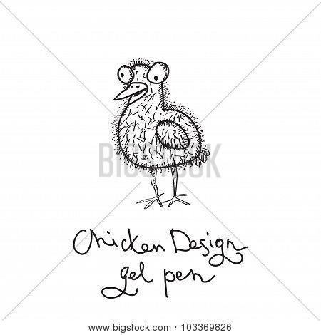 Vector doodling chicken
