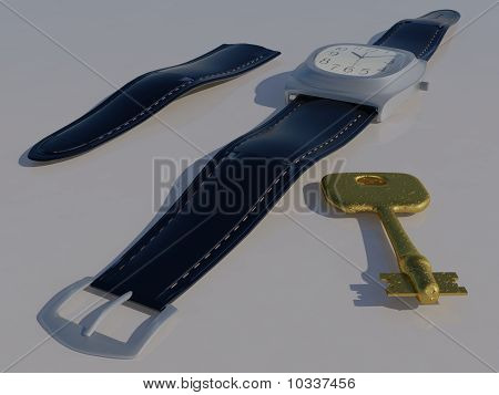 Watch and key