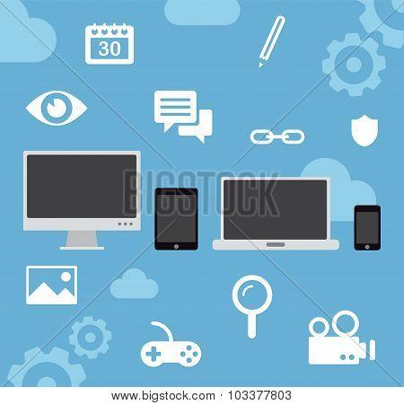 Multiple device cloud computing