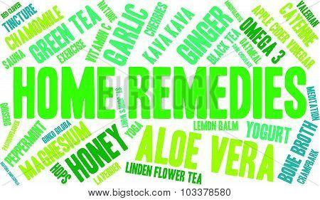 Home Remedies Word Cloud