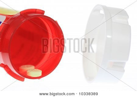 Open Pill Bottle