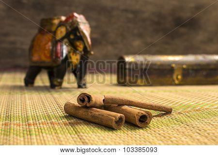 Raw cinnamon sticks
