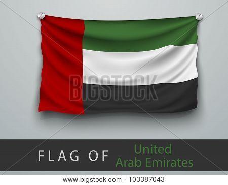 Flag Of United Arab Emirates  Battered