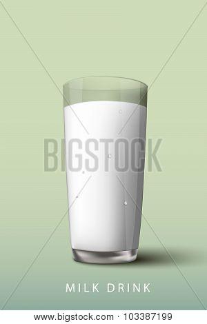 milk drink a glass