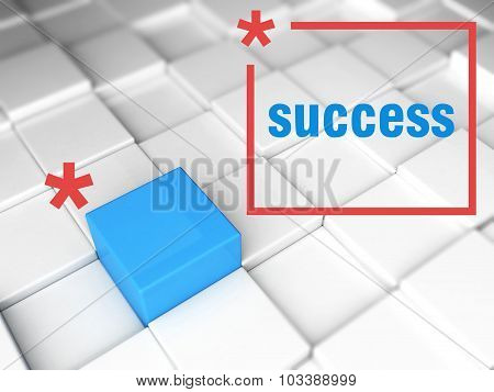 Success Concept. One Unique Leader
