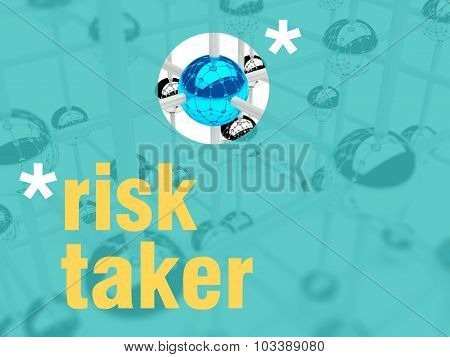 Risk Taker Concept. Unique Leader Individualist