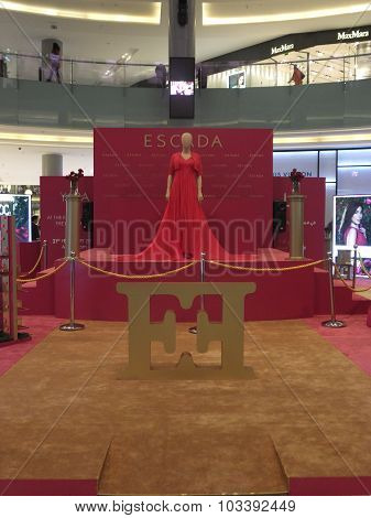 Escada exhibit near Fashion Avenue at Dubai Mall in the UAE