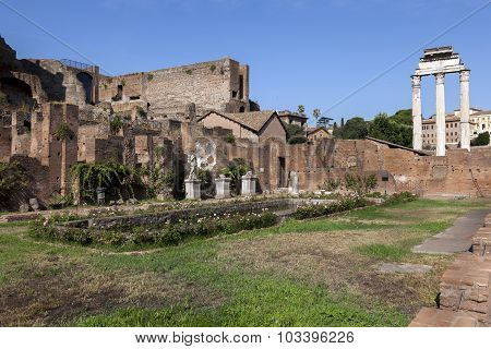 House Of The Vestal Virgins At The Palatine Hill
