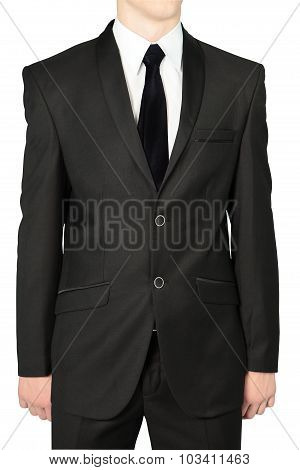 Black Wedding Suits For Men, Isolated On White.