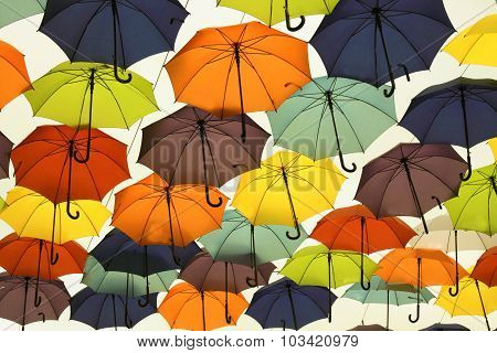 Many Of The Larger Size Hanging Umbrellas.