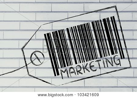 Marketing Code Bar On Product Price Tag