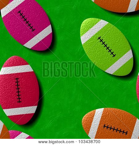 Rugby ball on a green pitch