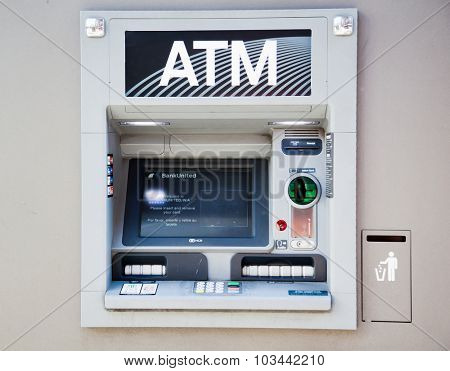 NEW YORK CITY, USA - SEPTEMBER, 2014: ATM in New York City