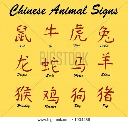 Chinese Animal Signs
