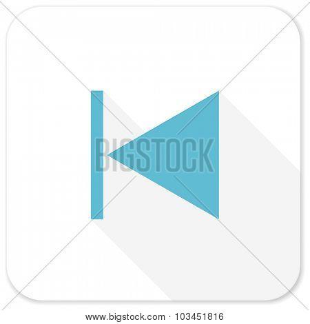 prev blue flat icon