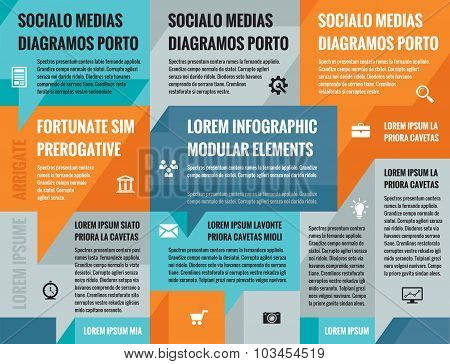 Business infographic concept vector layout for presentation, booklet, website and other projects.