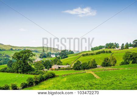 Sunny English rural scene.