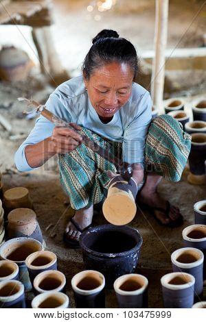 Burmese Craftswoman