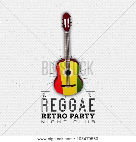 Reggae party insignia  and labels for any use
