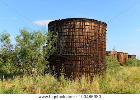 Abandoned oil field equipment