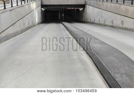 Underground parking.