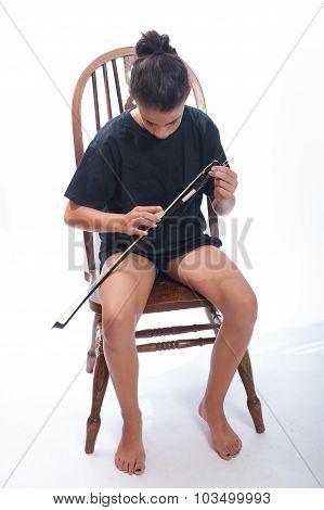 Preparing for cello practice