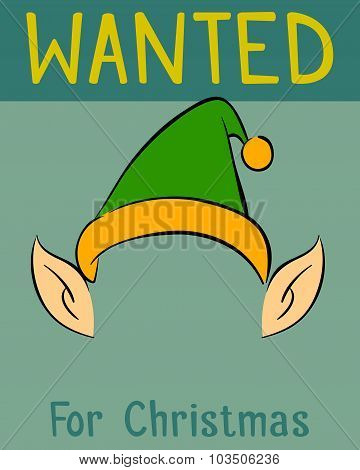 Wanted Christmas Elf Poster