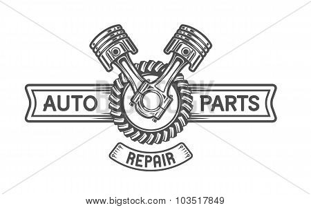 Repair Service. Gear and pistons.