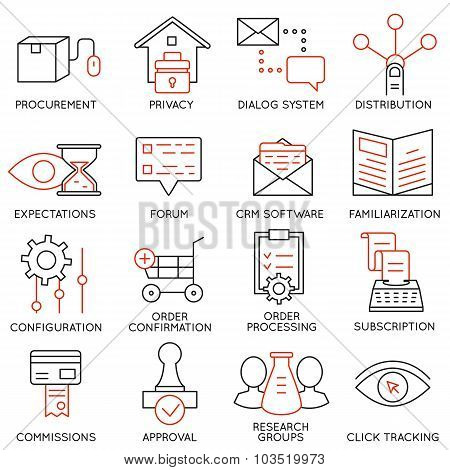 Vector Set Of 16 Icons Related To Business Management - part 18