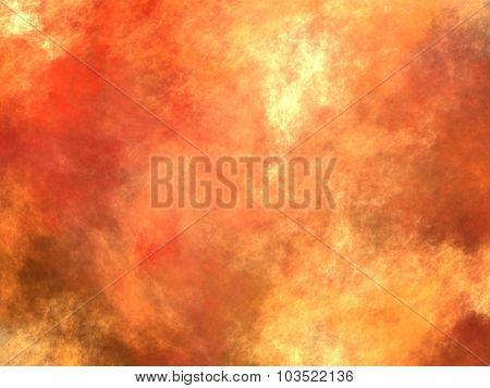 Red fire blast in hell - abstract background poster
