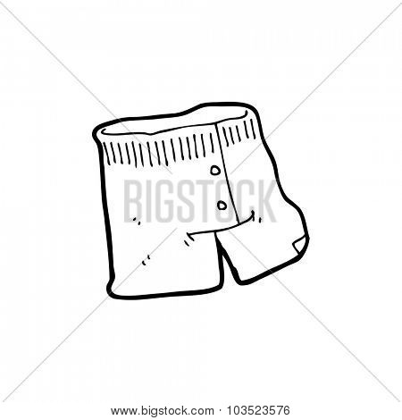 simple black and white line drawing cartoon  underwear