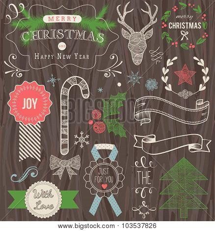 Christmas Hand Drawn Vector Set