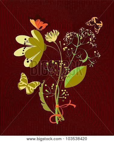 Modest Bouquet Of Wild Flowers