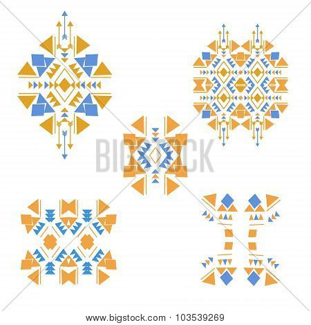 Colored tribal elements