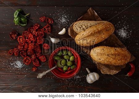 Ingredients Fro Tomato Snadwich