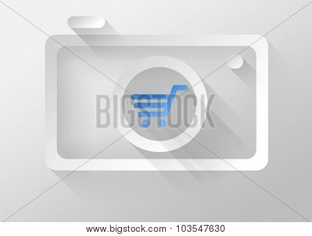 Buying Camera Icon 3D Illustration Flat Design