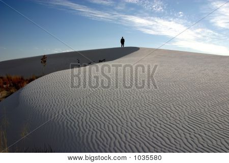 Lone Figure At White Sands