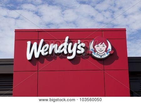 Wendy;s Restaurant Sign