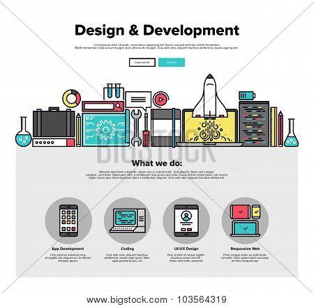 Design Develop Flat Line Web Graphics