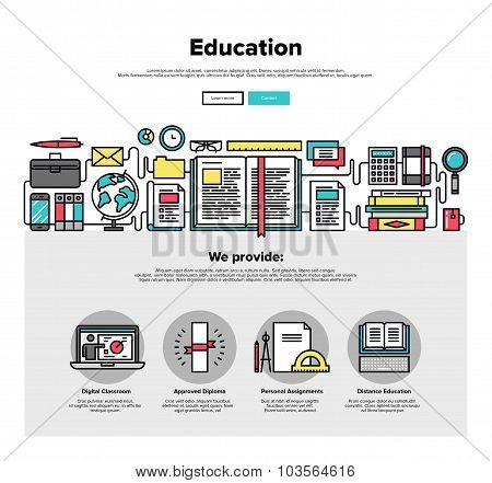Education Flat Line Web Graphics