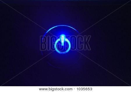 Monitor Power Button Closeup In Power Button