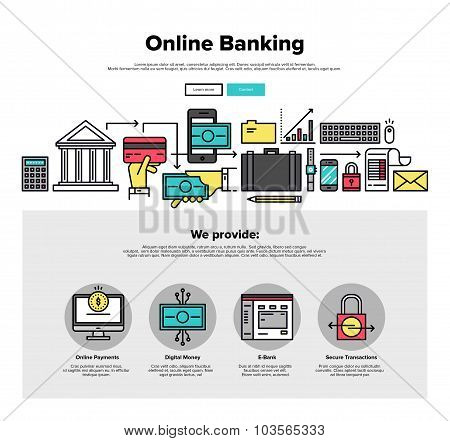 Online Banking Flat Line Web Graphics