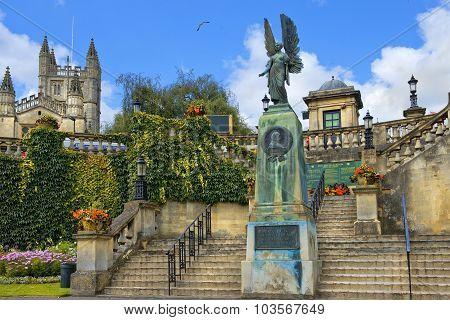 King Edward Vii Memorial In Bath, Somerset, England