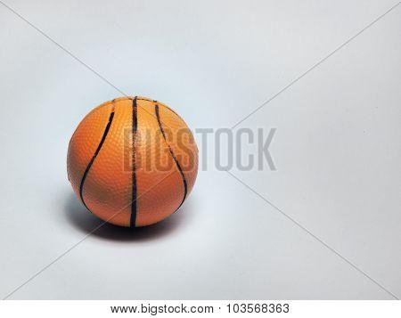 souvenir small basketball ball on white